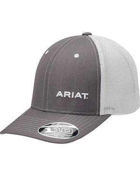 Ariat Men's Grey Pinstripe Pattern Baseball Cap , Grey, hi-res