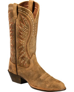 Ariat Brown Bomber Ammorette Cowgirl Boots - Round Toe, , hi-res
