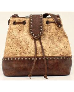 Blazin Roxx Women's Embossed Concealed Carry Bucket Bag, Brown, hi-res