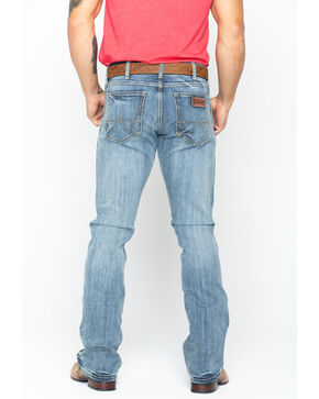 Wrangler Men's Blue Retro Slim Fit Stretch Jeans - Boot Cut , Blue, hi-res