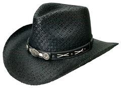 Jack Daniel's Soft Toyo Straw Cowboy Hat, Black, hi-res