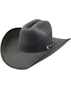 Justin Bent Rail Men's Granite 7X Hooked 2 Cowboy Hat, Grey, hi-res