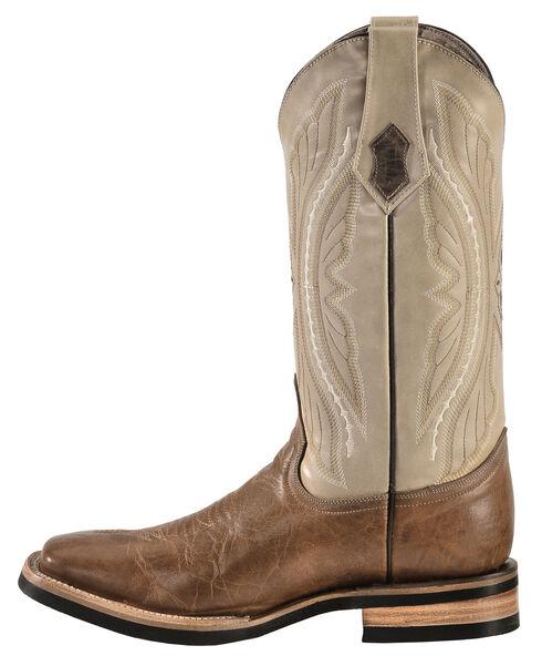 Ferrini Distressed Kangaroo Cowboy Boots - Wide Square Toe, Antique Saddle, hi-res