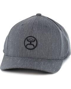 HOOey Men's Logo FlexFit Ball Cap, Grey, hi-res