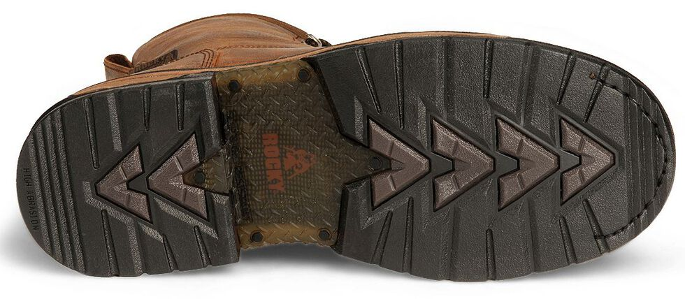 """Rocky 9"""" IronClad Waterproof Work Boots - Round Toe, Copper, hi-res"""