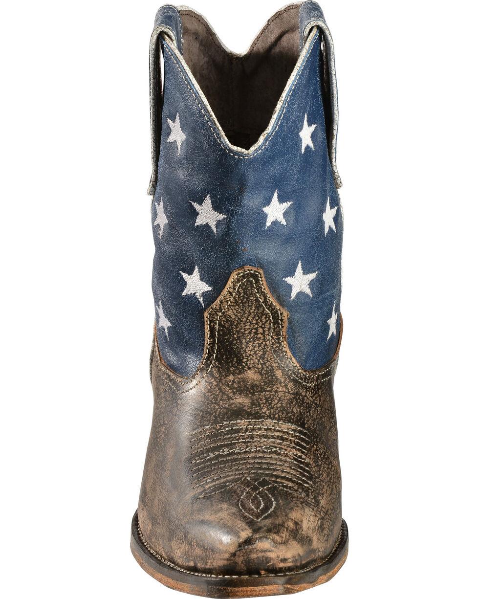 Roper Americana Shorty Boots - Snip Toe, Brown, hi-res