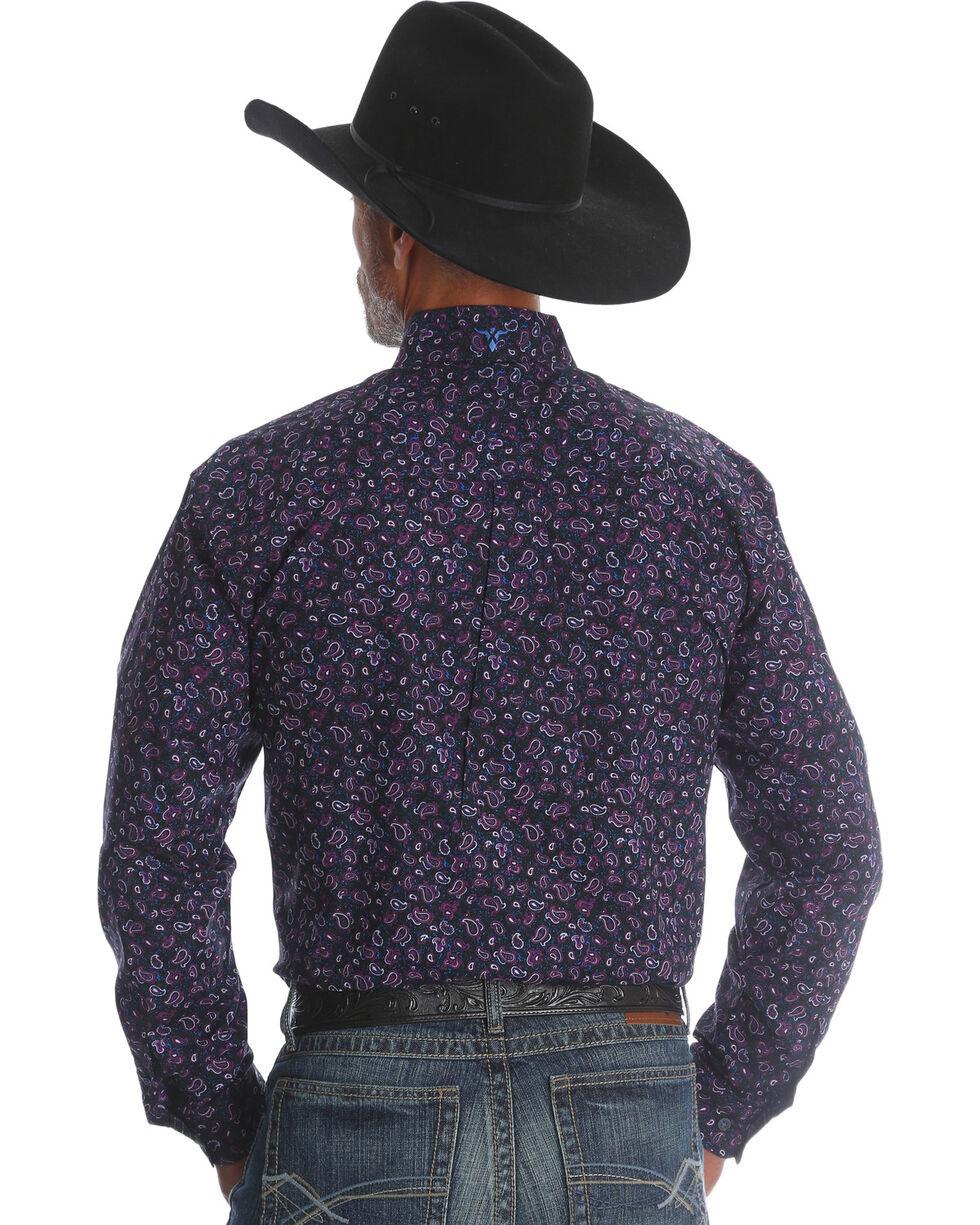 Wrangler Men's Plum 20X Advanced Comfort Competition Shirt , Purple, hi-res