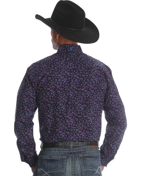 Wrangler Men's Plum 20X Advanced Comfort Competition Shirt - Tall , Purple, hi-res