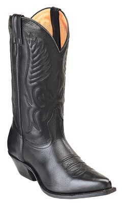 Boulet Fancy Stitched Cowboy Boots - Pointed Toe, , hi-res