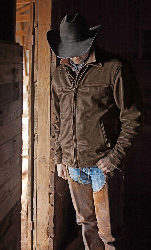 STS Ranchwear Men's Rifleman Brown Leather Jacket - Big & Tall - 2XL & 3XL, Brown, hi-res