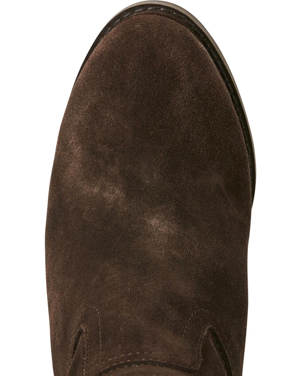 Ariat Women's Dark Brown Suede Broadway Wedge Boots - Round Toe, Dark Brown, hi-res