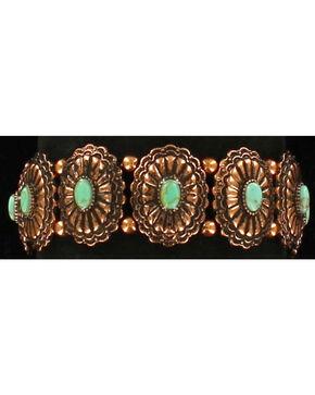 Blazin Roxx Women's Starburst Concho Bracelet , Rust Copper, hi-res