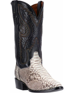 Dan Post Natural Omaha Python Cowboy Boots - Medium Toe, Natural, hi-res