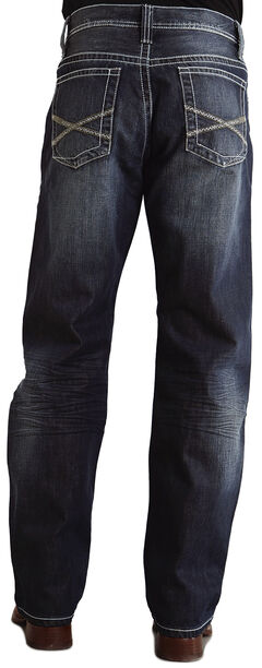 "Stetson 1520 Fit Bold ""X"" Stitched Jeans, , hi-res"