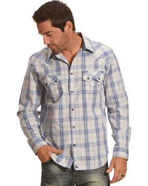 Cody James Men's Silver Legacy Plaid Long Sleeve Shirt, Grey, hi-res