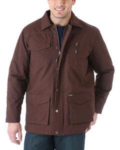 Wrangler Men's Barn Coat, Brown, hi-res