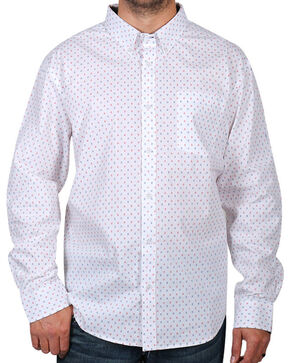 Cody James Men's Printed Long Sleeve Shirt, White, hi-res