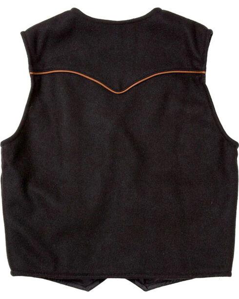 Schaefer Outfitter Men's Black Stockman Melton Wool Vest - 2XL, Black, hi-res