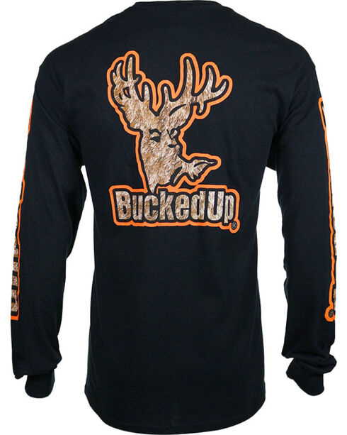 Bucked Up Men's Logo Graphic Long Sleeve T-shirt - Big , Black, hi-res