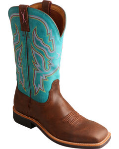 Twisted X Turquoise Top Hand Cowgirl Boots - Square Toe , , hi-res