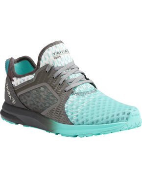 Ariat Women's Turquoise Ombre Mesh Shoes , Turquoise, hi-res