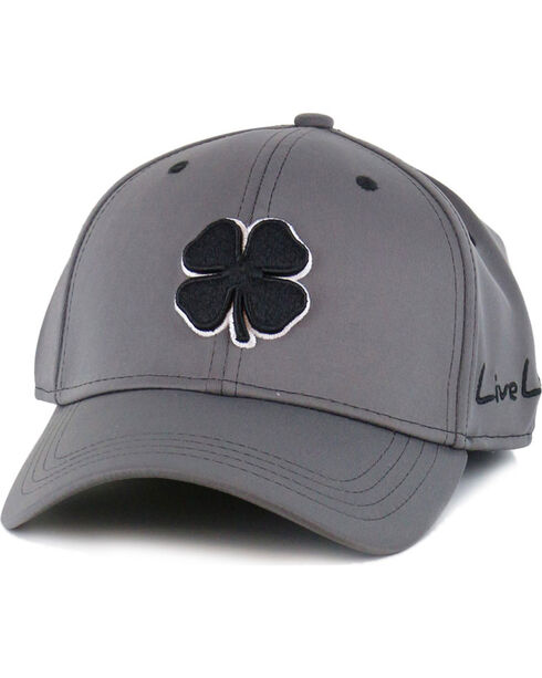 Black Clover Men's Premium Fitted Low Profile Ball Cap, Grey, hi-res