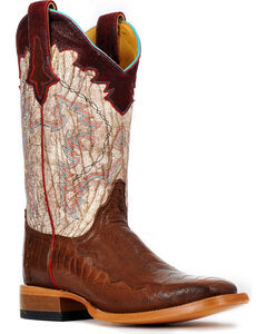 Cinch® Women's Ostrich Leg Cowgirl Boots - Square Toe, , hi-res