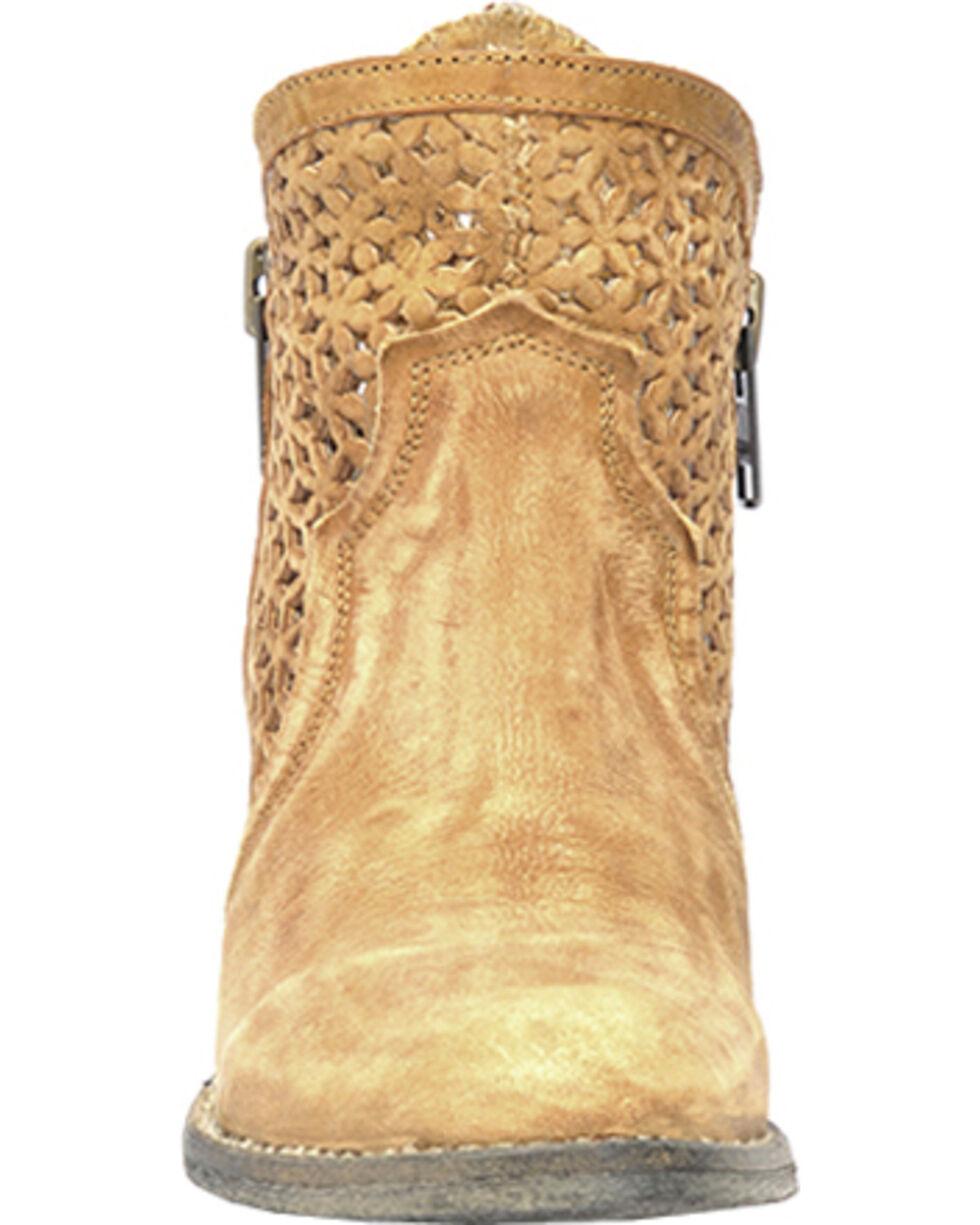 Circle G Women's Tan Cutout Short Boots - Round Toe, Tan, hi-res