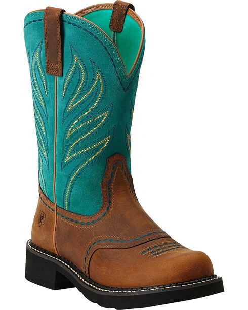 Ariat Probaby Flame Cowgirl Boots - Round Toe, Distressed, hi-res