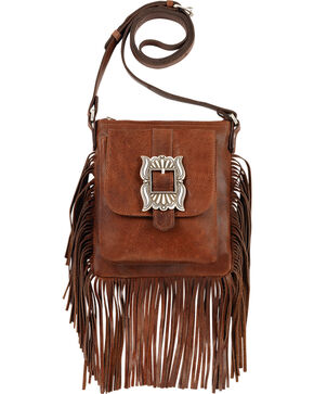 American West Eagle Tobacco Brown Crossbody Bag , Tobacco, hi-res