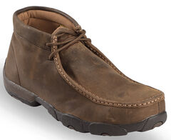 Twisted X Driving Lace-Up Moccasin Shoes - Steel Toe, , hi-res