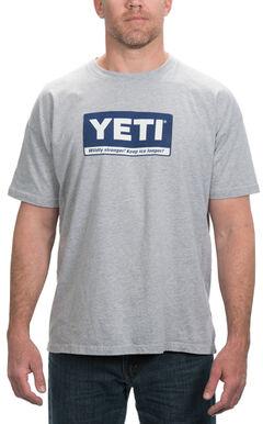 YETI Coolers Men's Billboard Logo T-Shirt, Grey, hi-res