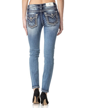 Miss Me Women's Shake Down Mid Rise Skinny Jeans, Indigo, hi-res