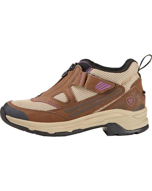 Ariat Women's Maxtrax UL Zip Riding Shoes, Chocolate, hi-res