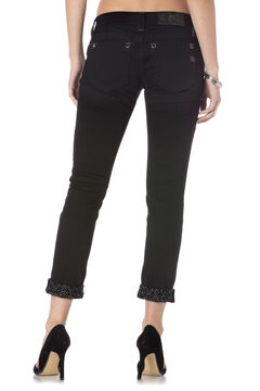 Miss Me Women's Black Modern Mix Cuffed Skinny Jeans , , hi-res
