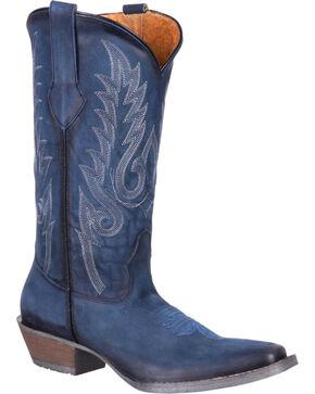 Durango Women's Blue Dream Catcher Western Boots - Square Toe , Blue, hi-res