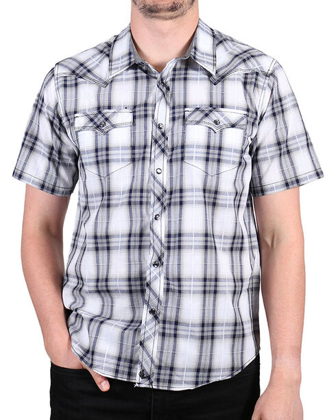 Cody James Men's Huckleberry Short Sleeve Shirt, White, hi-res