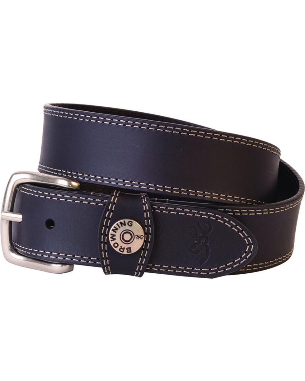 Browning Men's Leather Slug Belt , Black, hi-res