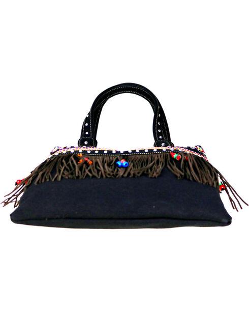 Montana West Women's Fringe Collection Concealed Handgun Handbag, Black, hi-res