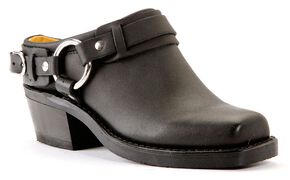 Frye Women's Belted Harness Mules - Square Toe, Black, hi-res