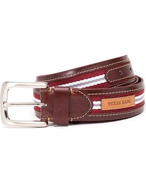 Jack Mason Men's Texas A&M University Tailgate Belt , Brown, hi-res