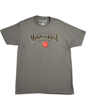 Moonshine Spirit Men's Grey Logo Tee, Charcoal, hi-res