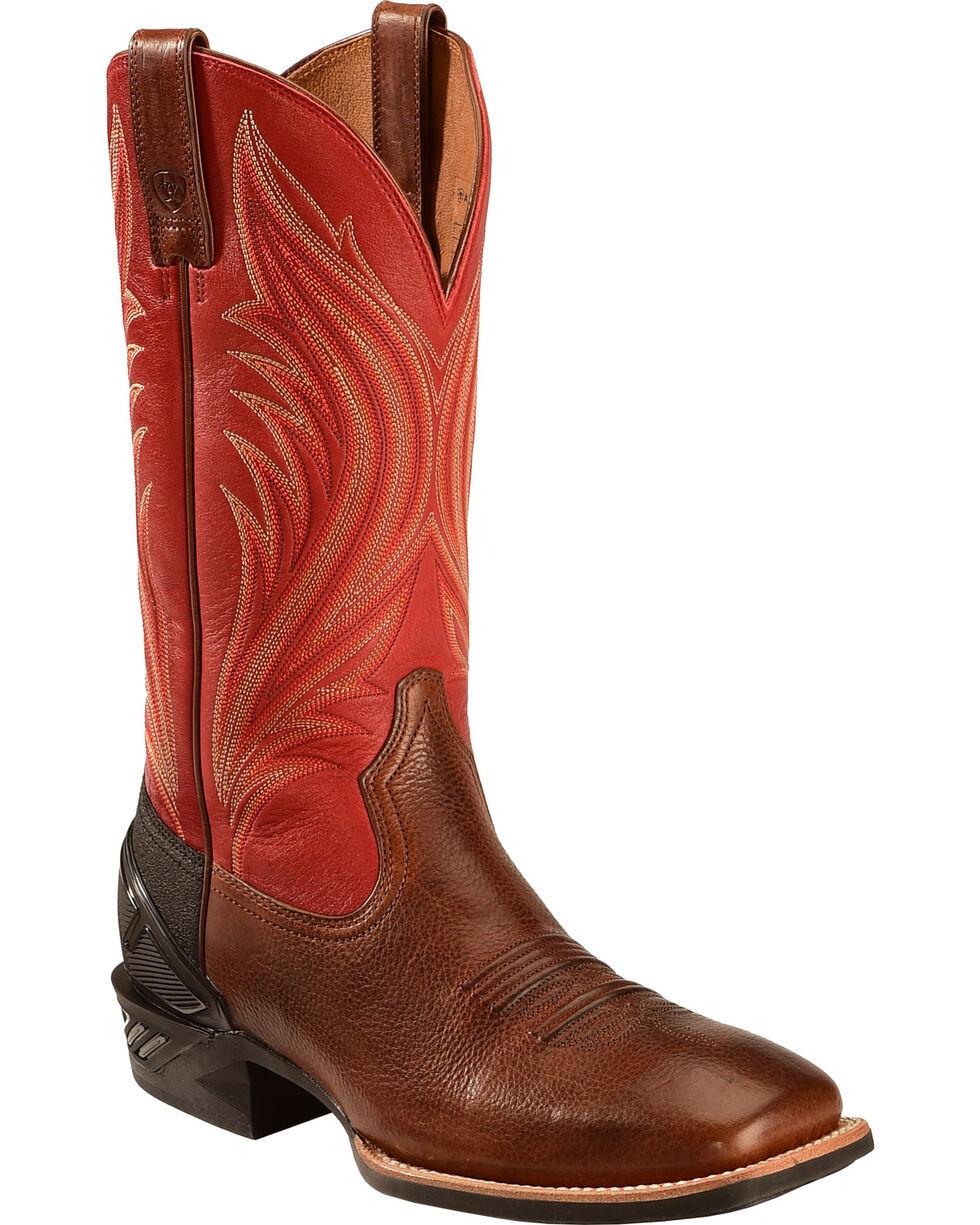 Ariat Mocha Catalyst Prime Cowboy Boots - Square Toe, Mocha, hi-res