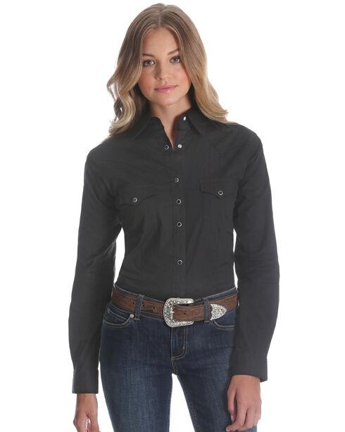Wrangler Black Western Top, Black, hi-res