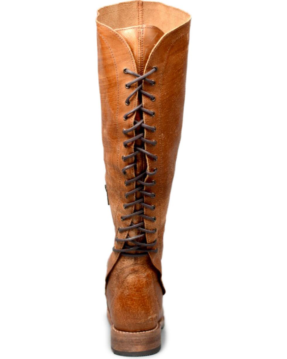 Bed Stu Women's Caramel Surrey Tall Lace Boots - Round Toe , Tan, hi-res