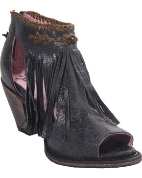 Junk Gypsy by Lane Women's The Archer Peek Toe Boots - Round Toe , Black, hi-res
