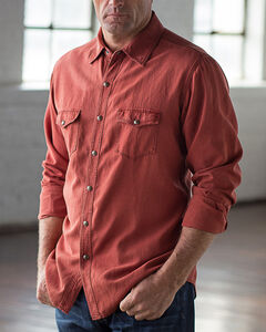 Ryan Michael Men's Brick Birdseye Texture Shirt, , hi-res