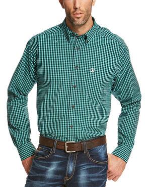 Ariat Men's Indigo Odem Long Sleeve Shirt - Big and Tall , Indigo, hi-res