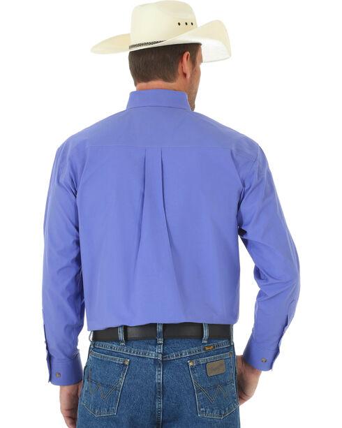 Wrangler George Strait Men's Purple Long Sleeve Shirt - Tall, Purple, hi-res