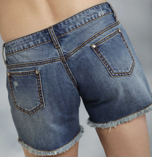 Roper Denim Boyfriend Star Print Shorts, Denim, hi-res